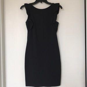 Zara Ruffle sleeve backless dress